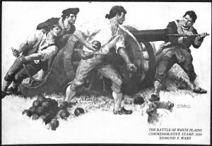 Battle of White Plains Postage Stamp - E.F. Ward