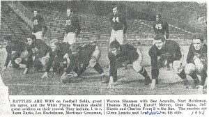 Mercer playing center for WPHS in 1942