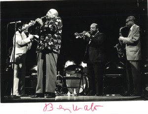 Benny Waters and the Harlem Jazz and Blues Band at the Emelin Theater in the 1970s.