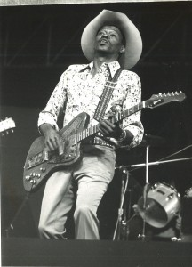 Clarence Gatemouth Brown at the 1977 Philadelphia Folk Festival.
