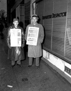 WP 1-15-58 Reporter Dispatch Strike Pickets 389