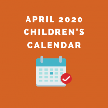 April 2020 Children's Calendar