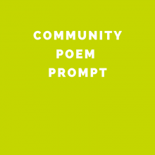 Poetry Prompt for Teens