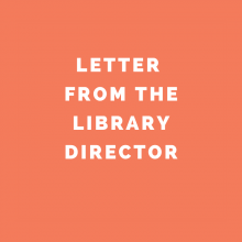 Letter from the Library Director