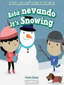 Esta novando it's snowing