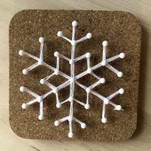 Grab & Go Grades 7-12: String Art Snowflakes